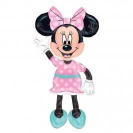 Globo Foil Minnie Rosa AirWalker 96 cm