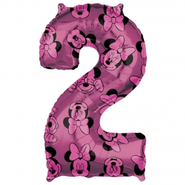 Globo Foil Nº 2 Rosa Minnie 66 cm