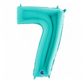 Globo Foil Número 7 Tiffany 1 Metro