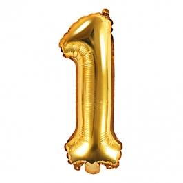 Globo Foil Número 1 Dorado 35 cm