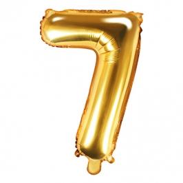 Globo Foil Número 7 Dorado 35 cm