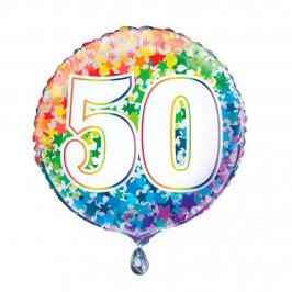 Globo Nº 50 Rainbow 45 cm