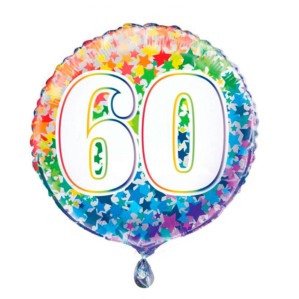 Globo Nº 60 Rainbow 45 cm