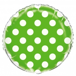 Globo Foil Verde con Lunares