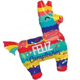 Globo Forma Piñata Feliz Cumpleaños 83 cm