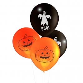 Globo Halloween calabazas y fantasmas 8 unidades