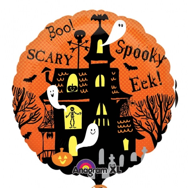 Globo Halloween casa embrujada 45cm
