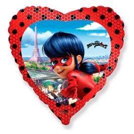 Globo Ladybug  Corazón 45 cm