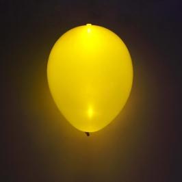 Globo LED color Amarillo 5 Unidades