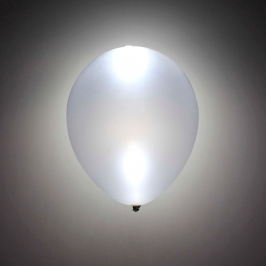 Globo LED Color Plata 5 Unidades