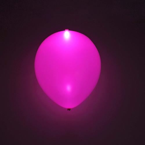 Globo LED color Rosa 5 Unidades