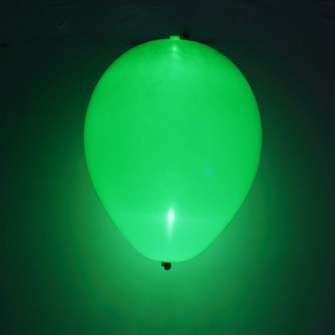Globo LED color Verde 5 Unidades