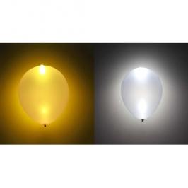 Globo LED colores Dorado y Plateado 5 Unidades