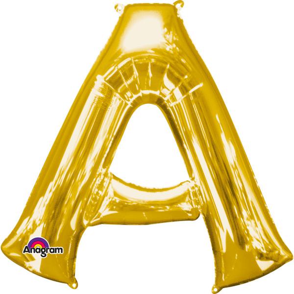 Globo Letra A 40 cm Dorado