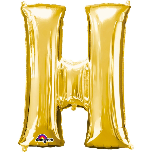 Globo Letra H 40 cm Dorado