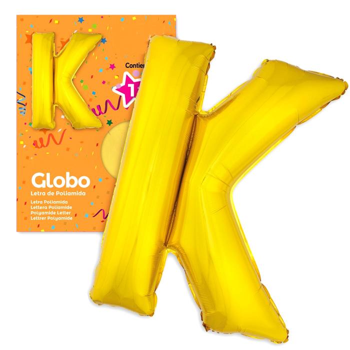 Globo Letra K Dorado 1 Metro