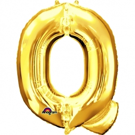 Globo Letra Q 40 cm Dorado