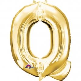 Globo Letra Q Dorado 81cm