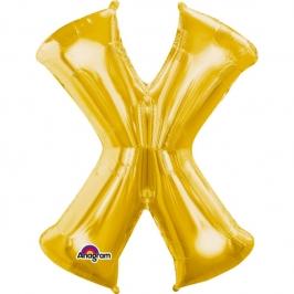 Globo Letra X 40 cm Dorado