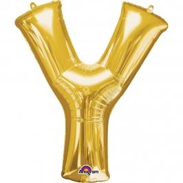 Globo Letra Y Dorado 86cm