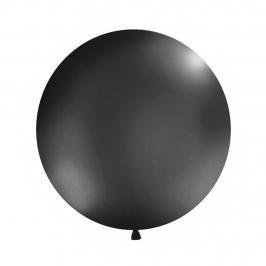 Globo Látex Negro Mate 1 m