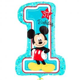Globo Nº 1 Azul Mickey