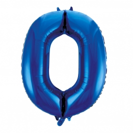 Globo Nº 0 Azul 86 cm