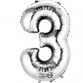 Globo Nº 3 Plata 86 cm