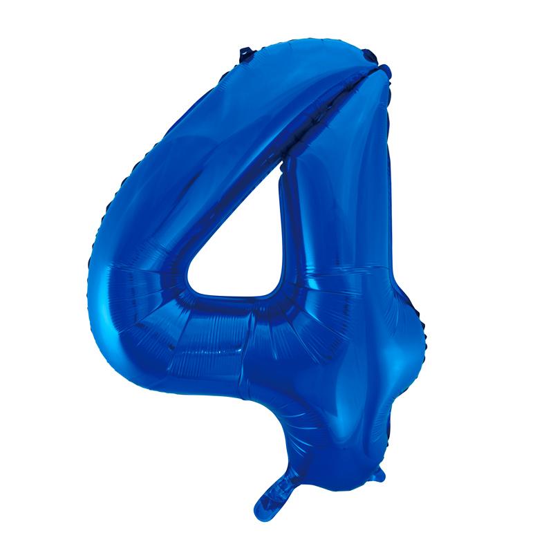 Globo Nº 4 Azul 86 cm
