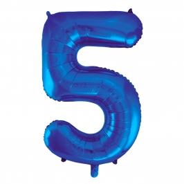 Globo Nº 5 Azul 86 cm