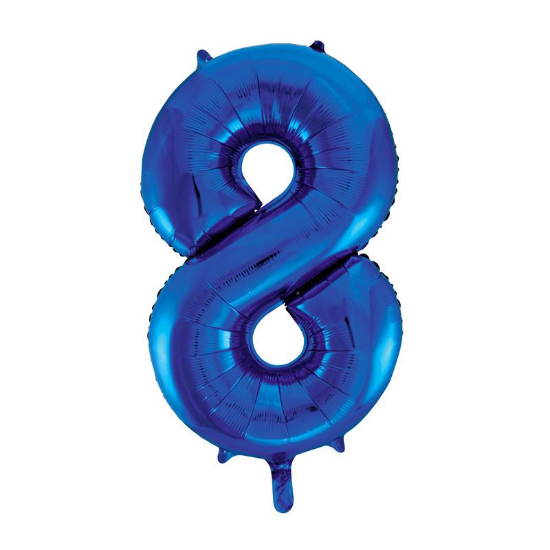 Globo Nº 8 Azul 86 cm