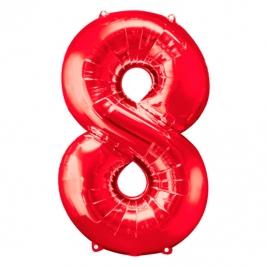 Globo Nº 8 Rojo 86 cm