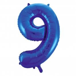 Globo Nº 9 Azul 86 cm
