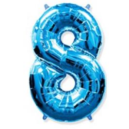 Globo Nº8 Azul 1m