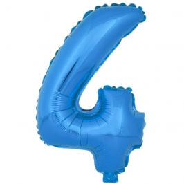 Globo Número 4 Azul 40cm - My Karamelli
