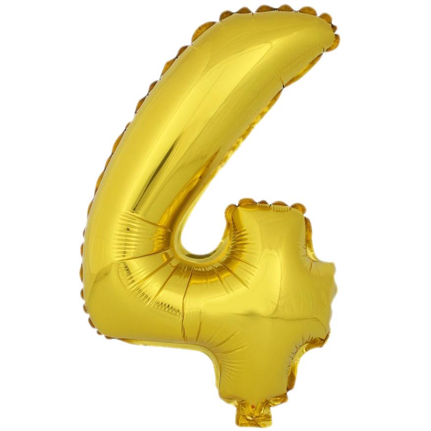 Globo Número 4 Dorado 40cm - My Karamelli