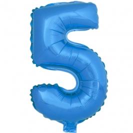 Globo Número 5 Azul 40cm - My Karamelli
