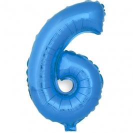 Globo Número 6 Azul 40cm - My Karamelli