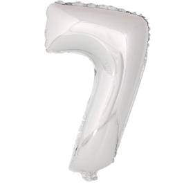 Globo Número 7 Plata 40cm - My Karamelli