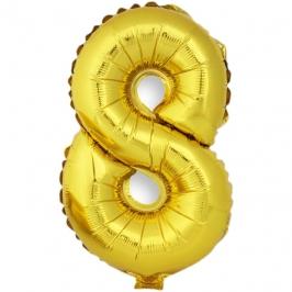 Globo Número 8 Dorado 40cm - My Karamelli