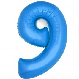 Globo Número 9 Azul 40cm - My Karamelli