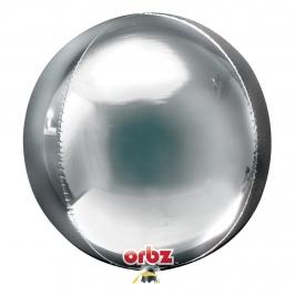 Globo Orbz Plata 40 cm