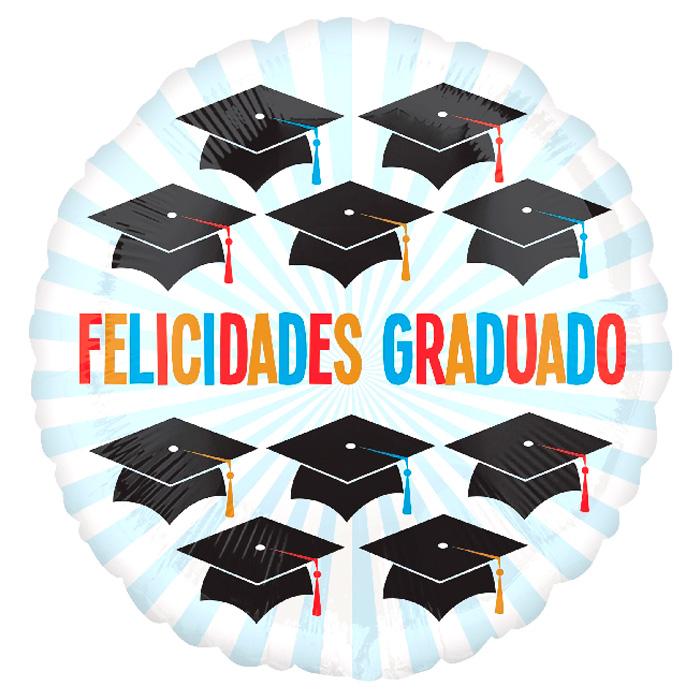 Globo Redondo Felicidades Graduado