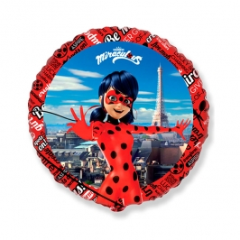 Globo Redondo Ladybug 45 cm