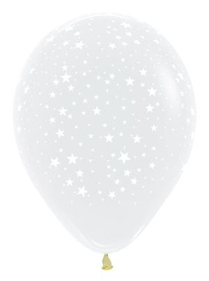Pack de 10 globos transparentes con estrellas