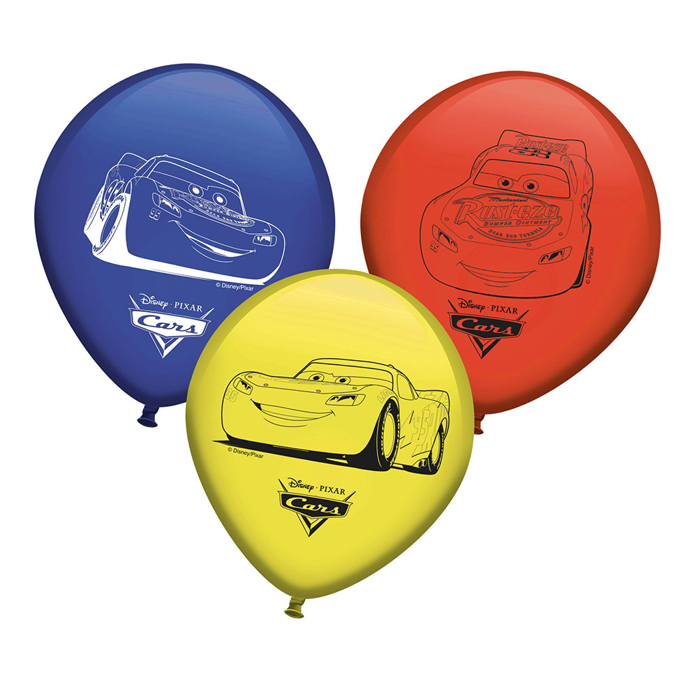 Set de 8 Globos Cars 30 cm
