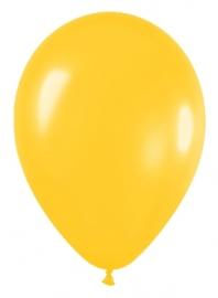 Pack de 12 Globos Amarillo Metalizado 30 cm