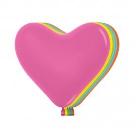 Globos Corazón Colores Surtidos 15 cm 50 ud