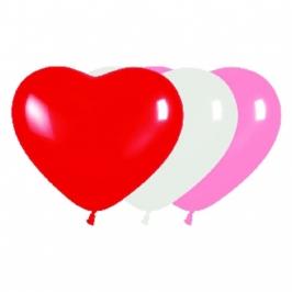 Globos con forma de corazón 10 unidades