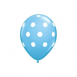 Globo Azul con Lunares blancos (5 uds)